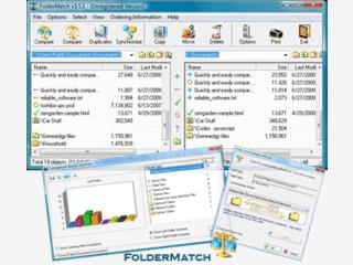 Mit FolderMatch lassen sich beliebige Verzeichnisse vergleichen und abgleichen.