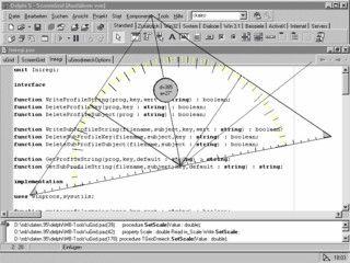 Programm um Abstände und Winkel am Bildschirm zu messen.