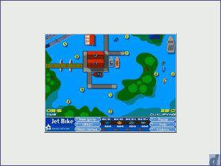 Einfaches Flashgame. Sie steuern ein Jetbike aus der Draufsicht.