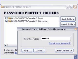 Passwortschutz für Ordner. Einfache Freigabe