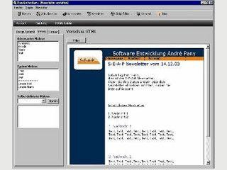 Software zur Pflege und Versand eines Newsletters.