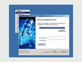 Schützen Sie jede beliebige EXE-Datei mit einem Passwort.