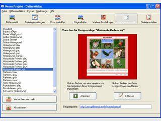 Erstellt aus Ihren Bilddateien professionelle HTML-Galerien mit Vorschaufunktion