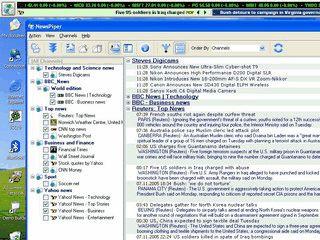 Sammelt RSS Newsfeeds und zeigt diese in einem Desktop-Ticker an.