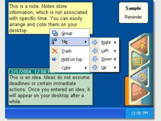 Termine und Notizen direkt auf dem Desktop verwalten.