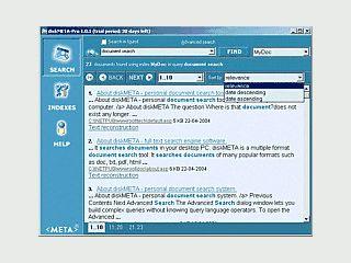 Indexierte Volltextsuche für Textdateien auf Ihrem PC oder im Netzwerk.