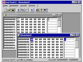 Hexeditor und Viewer für binäre Dateien aller Art